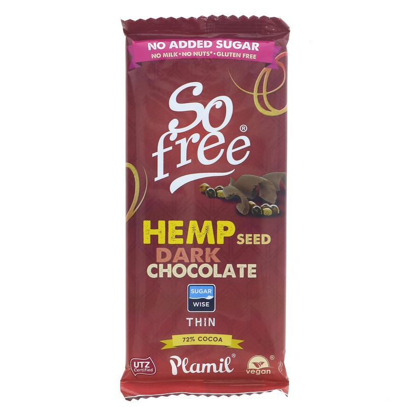 So Free Organic Hemp Dark Chocolate Bar 70g