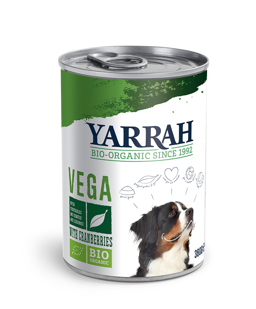 Yarrah Organic Vegan Dog Food Tin 380g